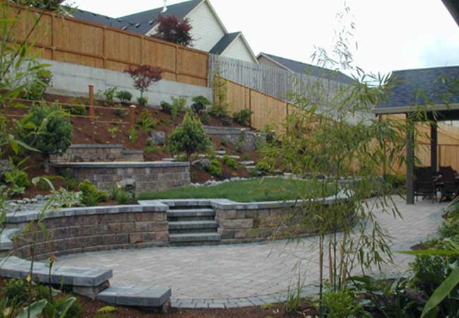 Custom designed exterior landscapes and hardscapes add to your outdoor enjoyment.