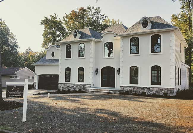 Paramus NJ front elevation constructon by Prominent Builders Glen Rock NJ