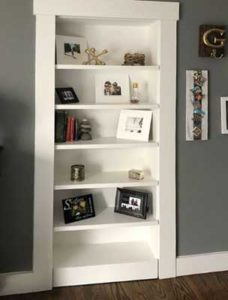 Custom built-in bookcase-display unit