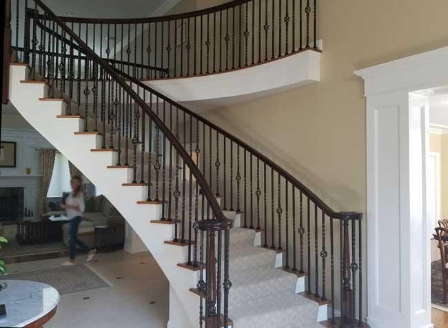 Dynamic custom designed circular staircase