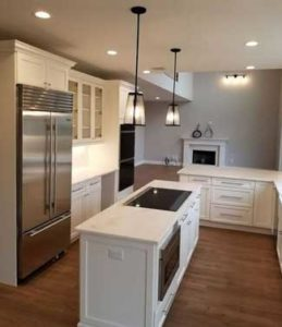 Consider high-end appliances and a new island when remodeling your kitchen