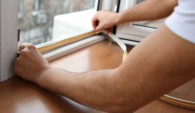 Installing weather stripping can help lower utility bills