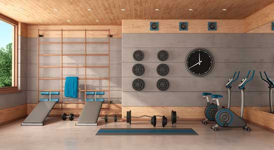 Multi-functional allowing homeowners to exercise with equipment or complete a yoga workout