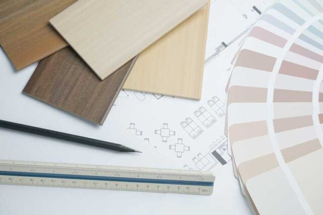 Flooring type and paint colors are important choices when planning new construction
