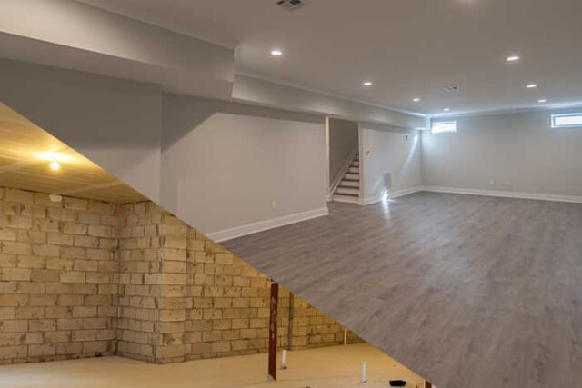 Finishing your basement adds extra living space and value to your home